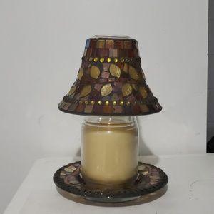 Yankee Candle Fall Glass Mosaic Globe & Tray